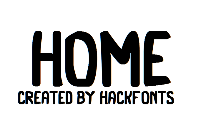 Home Font poster