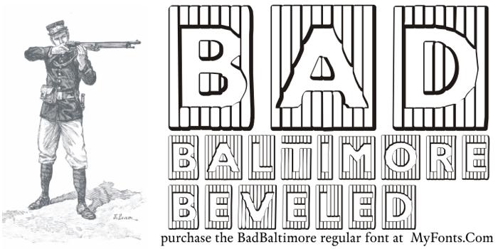 BadBaltimore Beveled Font poster