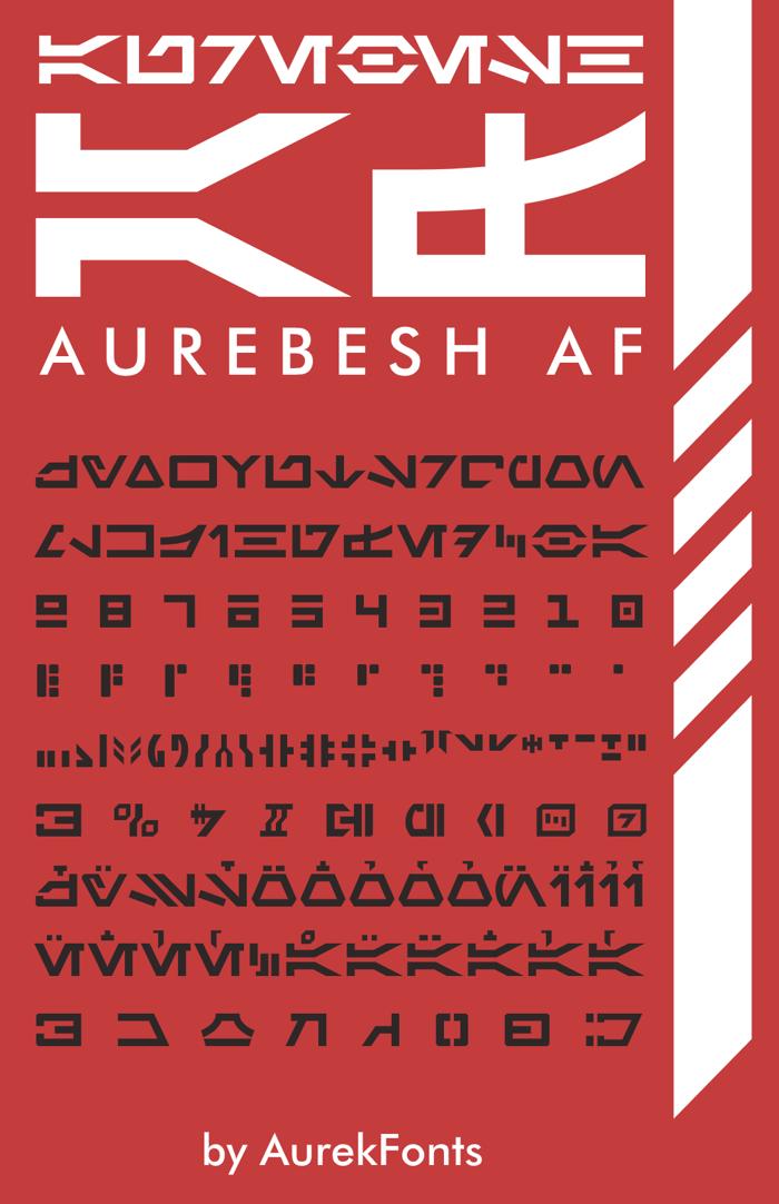 Aurebesh AF Font poster