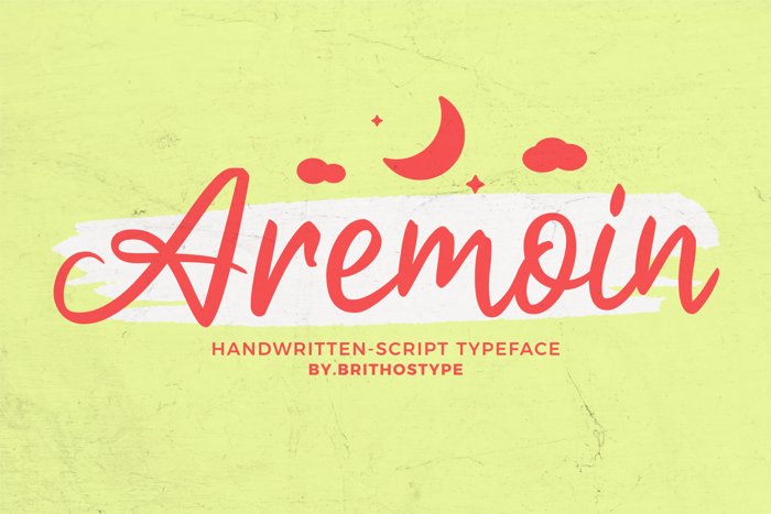 Aremoin Font poster