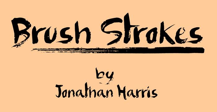 Brush Strokes Font poster