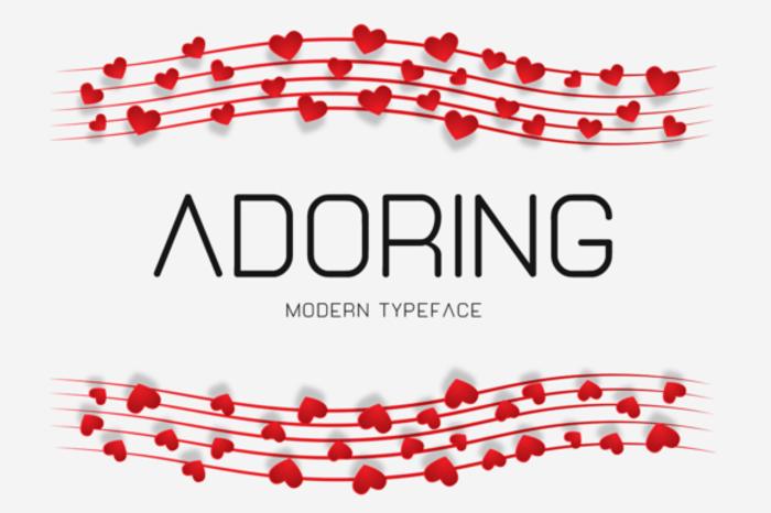Adoring Font poster