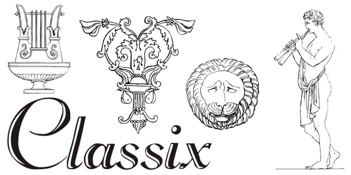 Classix Font poster