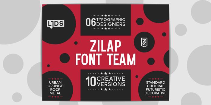 Zilap Font Team poster