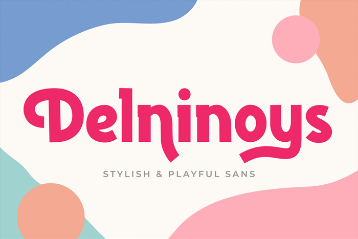 Delninoys Font poster