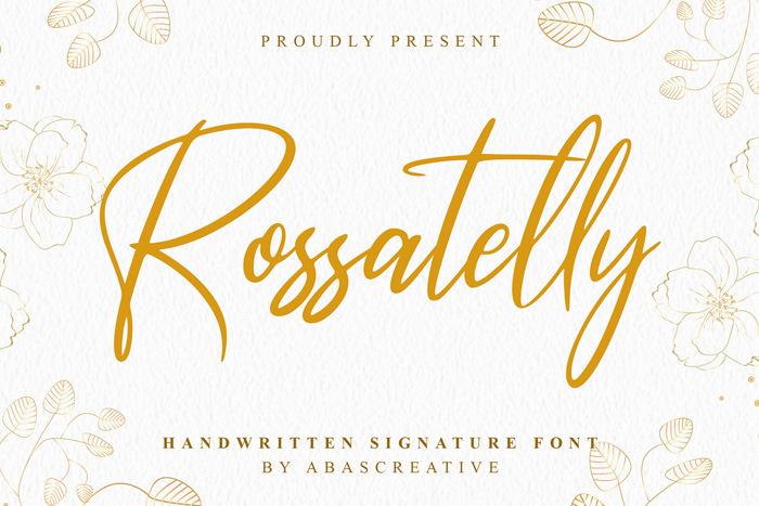 Rossatelly Font poster