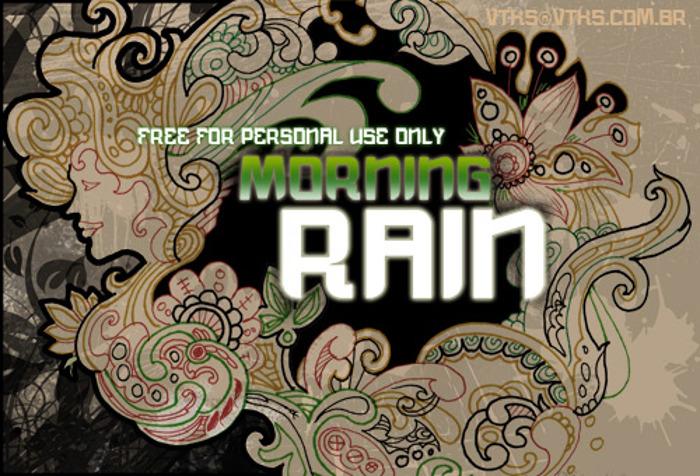 vtks morning rain Font poster
