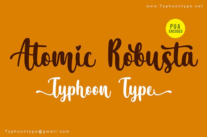 Atomic Robusta Font poster