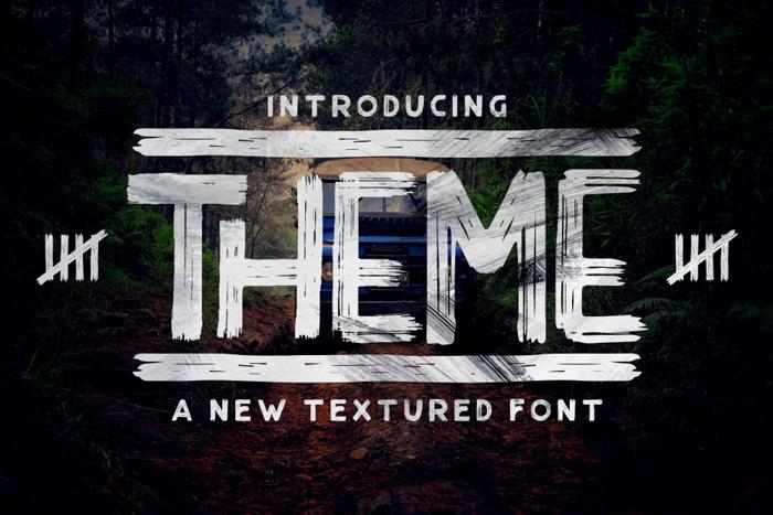 THEME Font poster