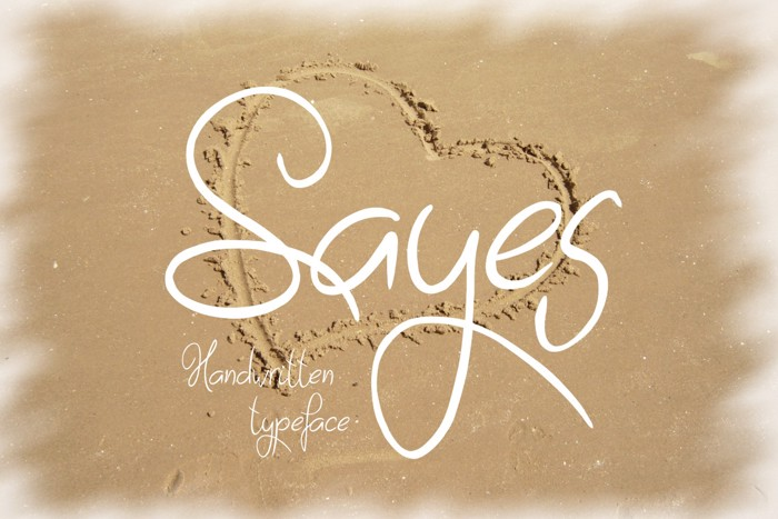 Sayes Font poster
