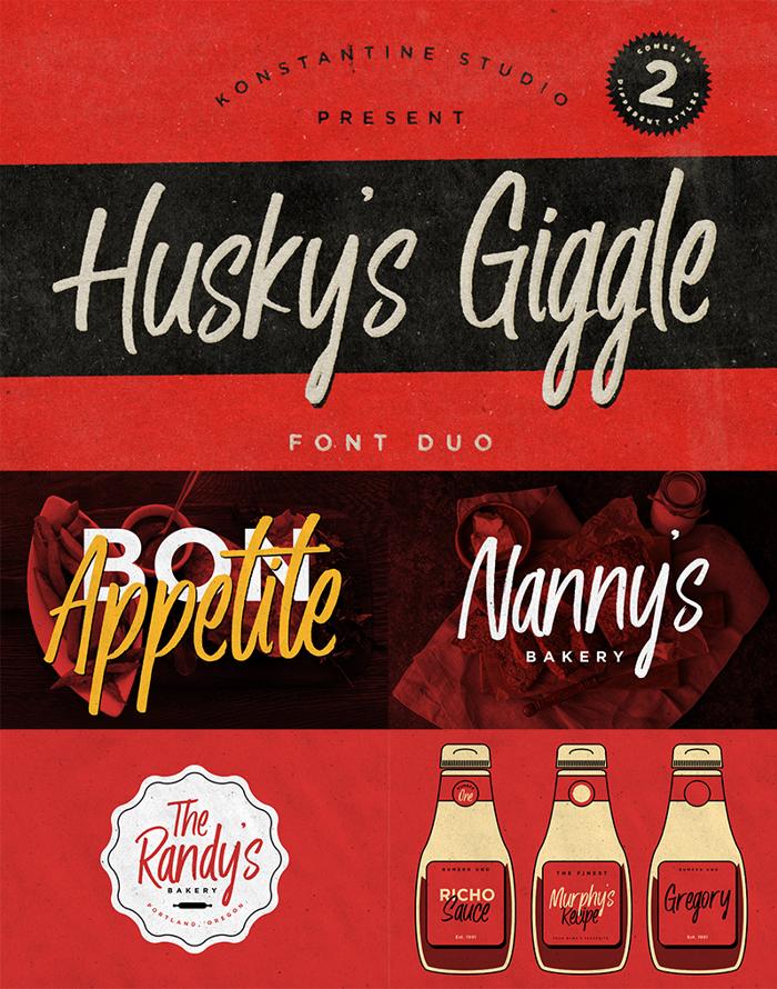 Husky Giggle Font poster