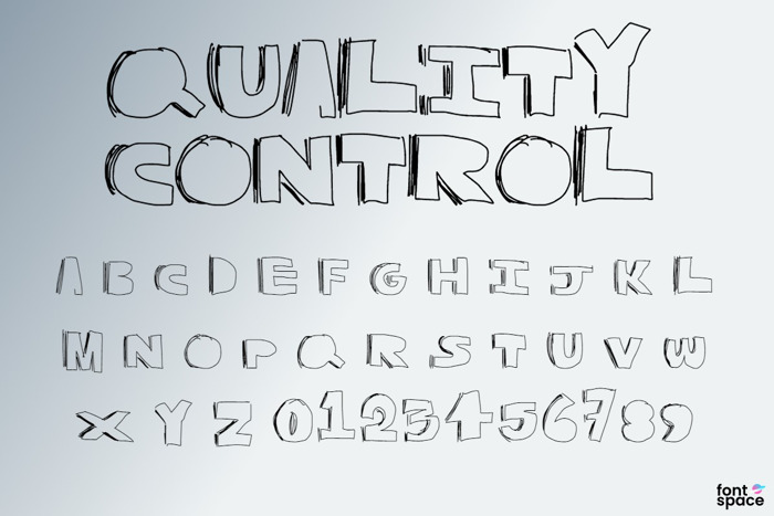 Quality Control Font poster