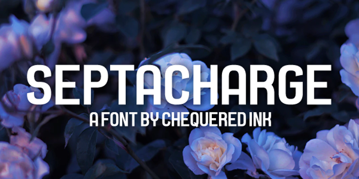 Septacharge Font poster