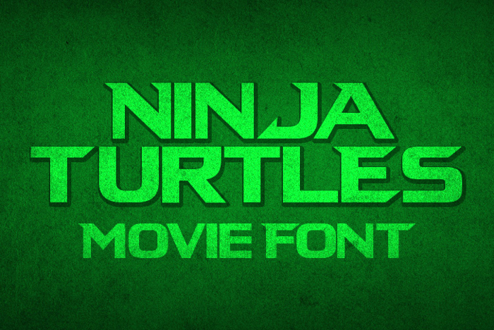 Ninja Turtles Font poster