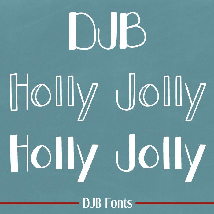 DJB Holly Jolly Font poster