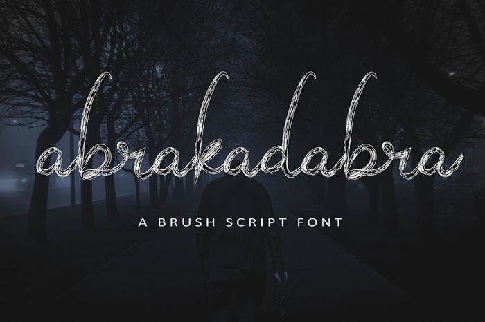 abrakadabra Font poster