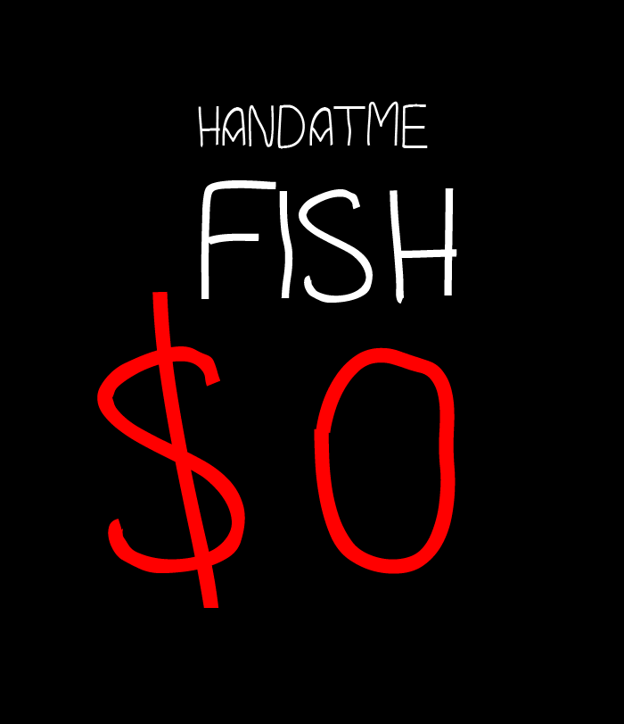 DMF Handatme Font poster