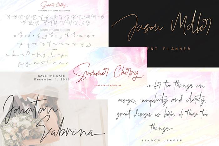 Summer Cherry Font poster