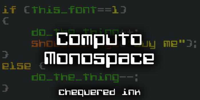 Computo Monospace Font poster