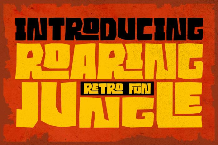 Roaring Jungle Font poster