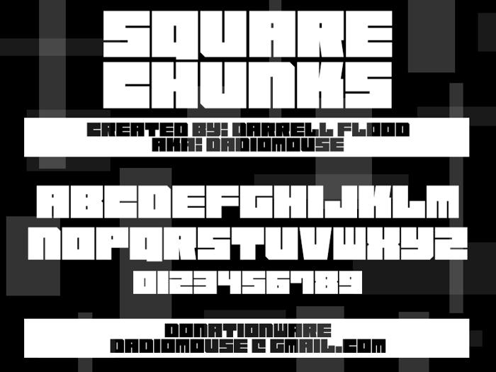 Square Chunks Font poster