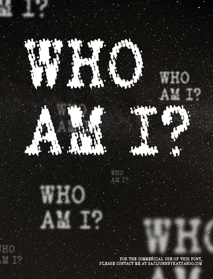 WHO AM I Font poster
