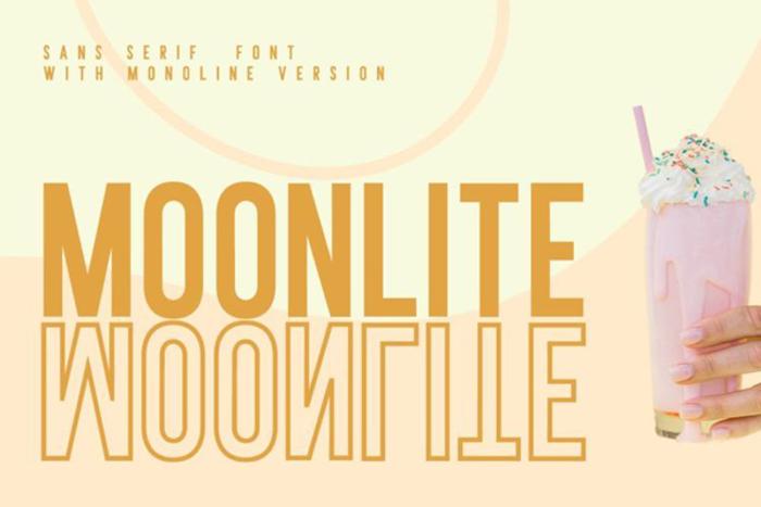 Moonlite Solid Font poster