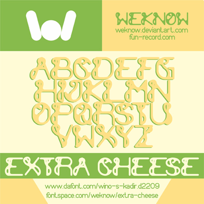 extra cheese Font poster