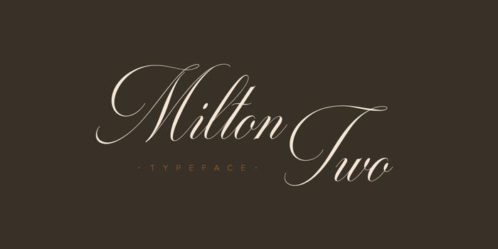 Milton Two Font poster