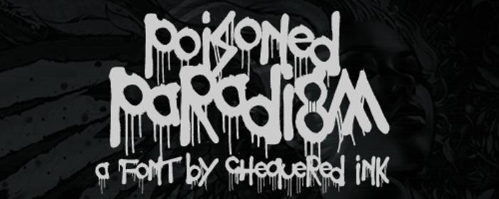 Poisoned Paradigm Font poster