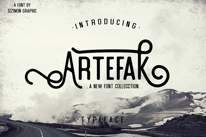Artefak Font poster