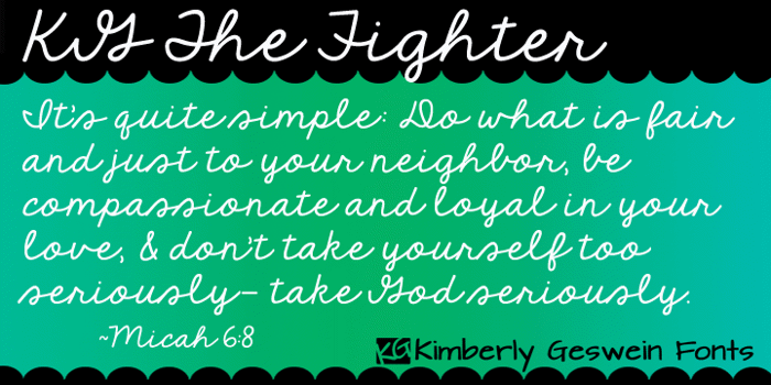 KG The Fighter Font