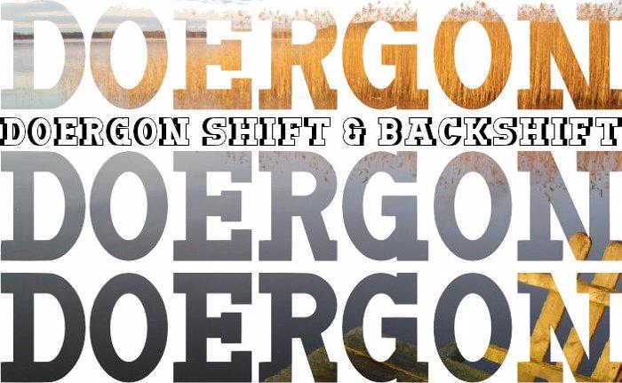 Doergon Font poster