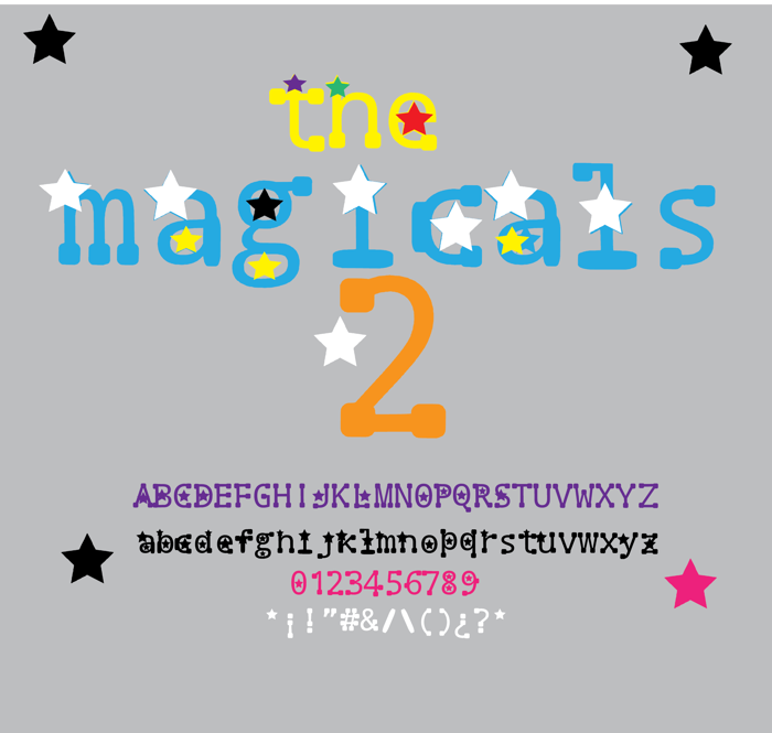 the magicals 2 Font poster