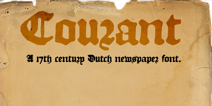 DK Courant Font poster