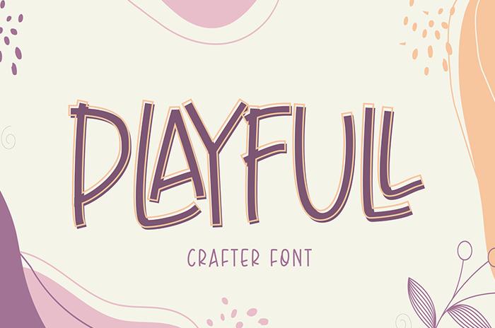 Playfull Font poster