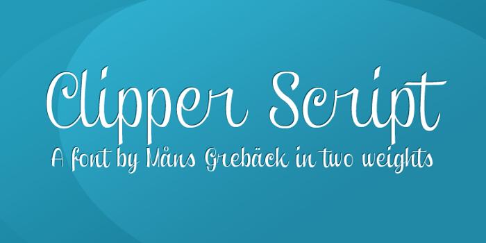 Clipper Script Font poster