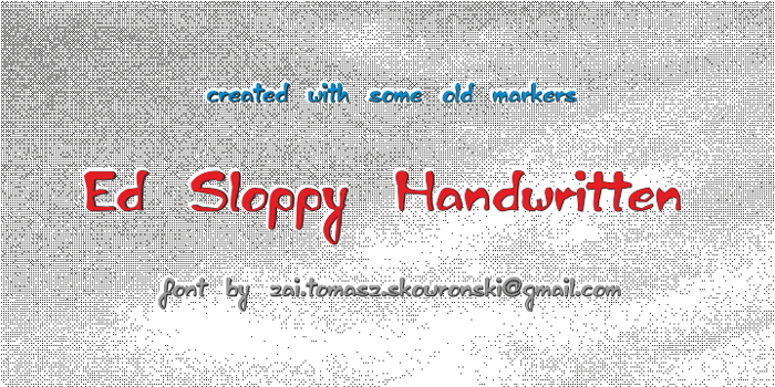 Ed Sloppy Simple Font poster