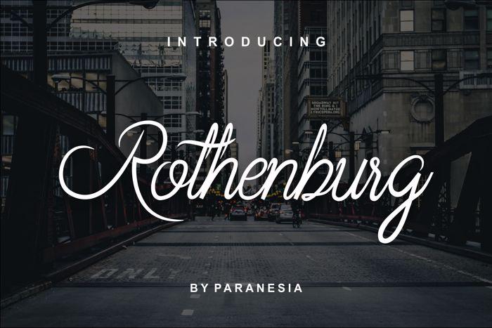 Rothenburg Script Font poster