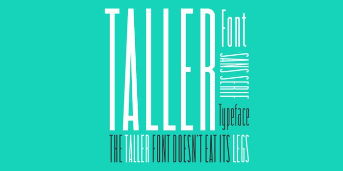 taller Font poster