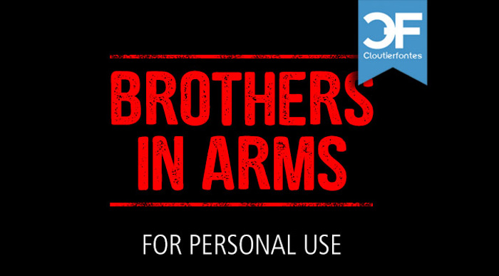 CF Brothers in Arms Font poster
