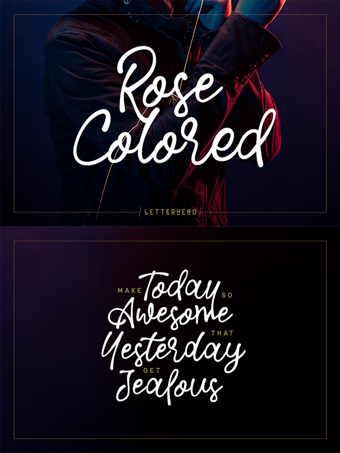 Rose Colored Font poster