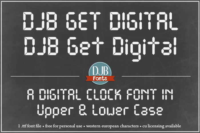 DJB Get Digital Font poster