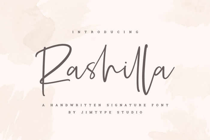 Rashilla   Signature Font poster