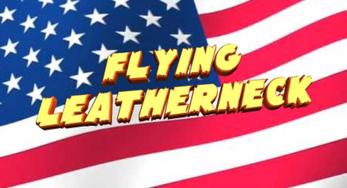Flying Leatherneck Font poster