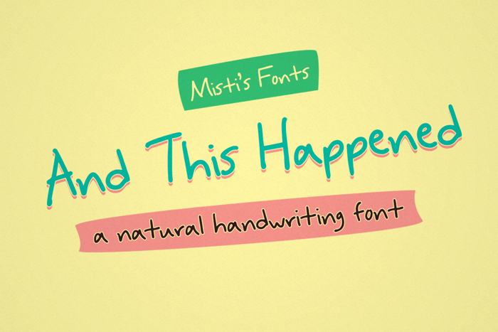And This Happened Font poster