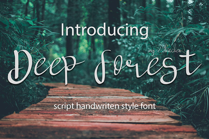 deep forest Font poster