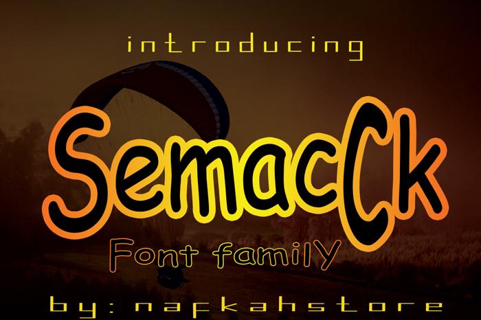 SemacCk Font poster