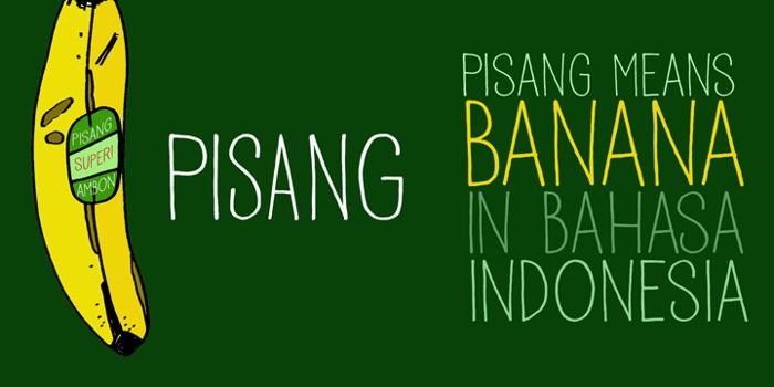 DK Pisang Font poster