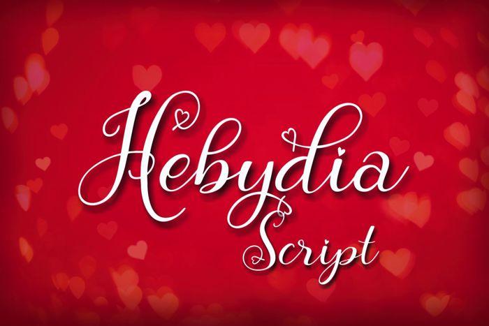 Hebydia Font poster